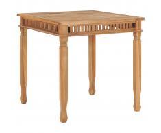 vidaXL Mesa de comedor de jardín madera maciza de teca 80x80x80 cm