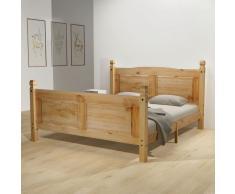 vidaXL Estructura de cama Corona Range pino mexicano 160x200 cm