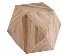 vidaXL Mesa auxiliar de madera de teca reciclada 40x40x40 cm