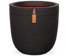 Capi Macetero Nature Rib 54x52 cm negro KBLR935