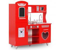 vidaXL Cocinita de juguete MDF roja 80x31x89 cm