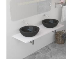 vidaXL Mueble de cuarto de baño blanco 160x40x16,3 cm