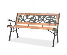 vidaXL Banco de jardín 122 cm madera