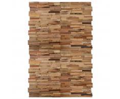 vidaXL Paneles de revestimiento de pared 20 uds teca reciclada 2 m²