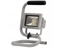 YATO Foco portátil LED COB 10 W plateado YT-81802