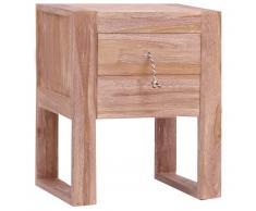 vidaXL Mesita de noche de madera maciza de teca 40x30x50 cm