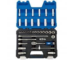 "Draper Tools Set de vasos métricos Expert 3/8"" 36 piezas 16449"