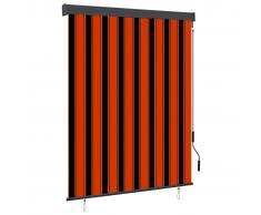 vidaXL Estor enrollable de exterior naranja y marrón 140x250 cm