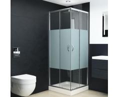 vidaXL Mampara de ducha con vidrio de seguridad 90x70x180 cm