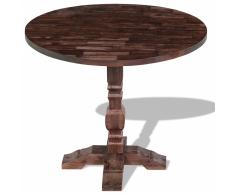 vidaXL Mesa de comedor pedestal madera maciza acacia 85x75cm
