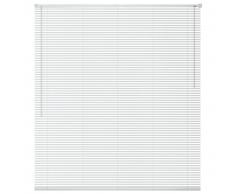vidaXL Persiana aluminio 80x130 cm blanca