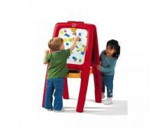 Step2 Caballete pizarra para 2 niños con letras y números magnéticos