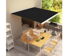 vidaXL Toldo de carrete manual 350 cm gris antracita