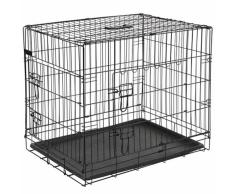 @Pet Jaula para perro 63x44x50,5 cm metal negra 15001