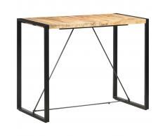 vidaXL Mesa alta de cocina de madera maciza de mango 140x70x110 cm