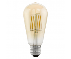 EGLO Bombilla LED de estilo vintage E27 ST64 11521, Ámbar