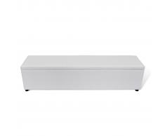 vidaXL Banco baúl de interior, color blanco, extra largo