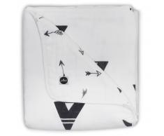 Jollein Manta de bebé muselina 75x100 negro y blanco 521-511-65081