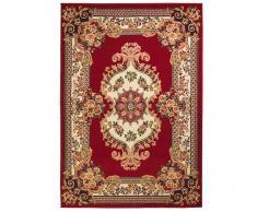 vidaXL Alfombra oriental con estampado persa rojo/beige 140x200 cm