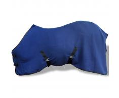 vidaXL Manta de Lana con Cinchas 125 cm (Azul)