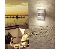 EGLO Lámpara LED de pared con sensor para jardín Sesimba 1 gris 2x3,7W