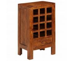 vidaXL Botellero madera acacia maciza 50x37x90 cm marrón