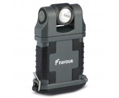 FAVOUR Linterna de trabajo EDCLIP gris y negro T2342