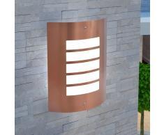 vidaXL Lámpara de pared para exterior acero inoxidable cobre