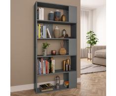 vidaXL Estantería/divisor de espacios aglomerado gris 80x24x159 cm