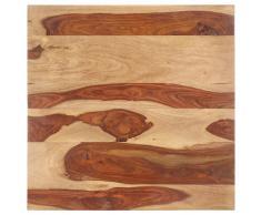 vidaXL Superficie de mesa madera maciza de sheesham 25-27 mm 80x80 cm
