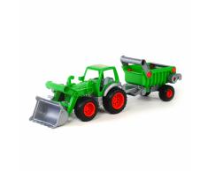 Polesie Tractor Wader con pala frontal 58x14,5x16,5 cm verde 1450580