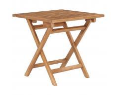 vidaXL Mesa de jardín plegable madera maciza de teca 45x45x45 cm