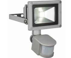 GLOBO Lámpara pared LED exterior sensor PROJECTEUR aluminio gris 34114
