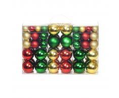 vidaXL Lote de bolas de Navidad 100 unidades 6 cm rojo/dorado/verde