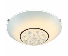 GLOBO Lámpara LED de techo LOUISE vidrio cromado 48175-12