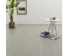 vidaXL Tarima flotante de click 3,51 m² 4 mm PVC gris claro