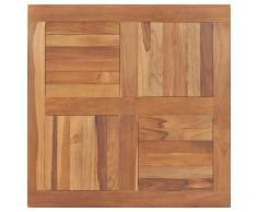 vidaXL Superficie de mesa cuadrada madera maciza de teca 80x80x2,5 cm