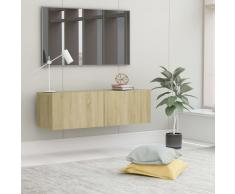 vidaXL Mueble para TV aglomerado color roble Sonoma 100x30x30 cm