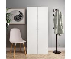 vidaXL Mueble zapatero de aglomerado blanco 80x35,5x180 cm