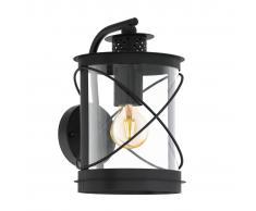 EGLO Lámpara de pared para jardín Hilburn negro 20x20x28 cm