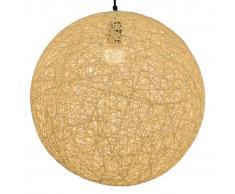 vidaXL Lámpara colgante esférica color crema E27 45 cm