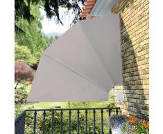 vidaXL Toldo lateral plegable para el patio, 210 x 210 cm, crema