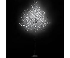 vidaXL Árbol Navidad flores interior exterior LED IP44 300cm blanco