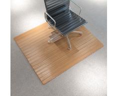 vidaXL Alfombra para silla/alfombra protección bambú 110x130cm natural