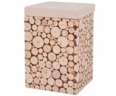 vidaXL Taburete de madera genuina 30x30x40 cm