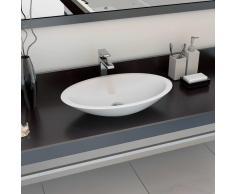 vidaXL Lavabo 59,3x35,1x10,7 cm resina mineral/mármol blanco