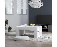 vidaXL Mesa de centro de aglomerado blanco 100x60x42 cm