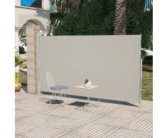 vidaXL Toldo lateral de jardín o terraza crema 160x300 cm