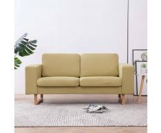 vidaXL Sofá de 2 plazas de tela verde
