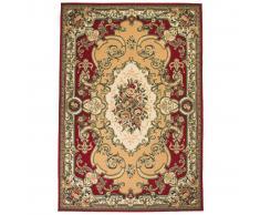 vidaXL Alfombra oriental estampado persa 160x230 cm rojo/beige